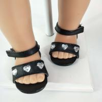 China black sandals doll shoes 18 inch girl doll shoes wholesale