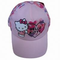China Hello kitty kids caps, 5-panel Structured Imprinting Children