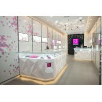 China Attractive Pule White Jewellery Showcases Display With Customize Logo wholesale