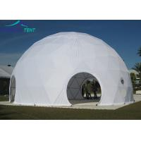 China 20m White Large Geodesic Dome Tents Aluminium Frame Geo Dome for Outdoor Event wholesale