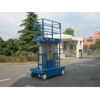 Quality Dual Mast Self Propelled Scissor Lift , One Man Scissor Lift With 9.7m Working for sale