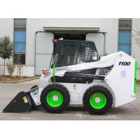 China Steel White Color Mini Skid Steer , 1100 Skid Steer Side Loader Fork Truck on sale