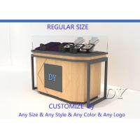 Quality Lockable Wooden Glass Veneer Jewelry Shop Counters Install Lights for sale