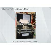 China Flush Liquid Ultrasonic Printhead Cleaning Machine , Black Heated Ultrasonic Cleaner wholesale