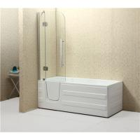 China Weight 65/78KG Corner Walk In Tub , Step In Bathtub With Tempered Glass Screen wholesale