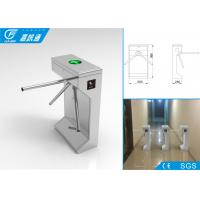China Pedestrian Barrier Gate Malfunction Self - Inspection , Code Hinting Function Waist High Turnstile wholesale