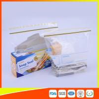 Quality Airtight Transparent Ziplock Snack Bags For Food Packing Customized Size for sale