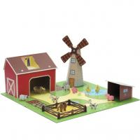 China Corrugated Cardboard Toys 3D Paper Toy Cardboard Play House ENTO003 wholesale