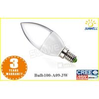 China No Ultraviolet led dimmable candle bulb E14 / E27 With Epistar 100LM / W led candle lights on sale