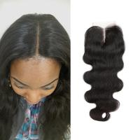 Buy cheap Free Middle 3 Part Lace Top Closure 120% Brazilian Virgin Hair Body Wave Closure from wholesalers