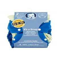 China Soft All In One Reusable Nappy , 2 Count Reusable Cloth Diapers For Babies on sale