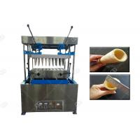 China Pizza Making Ice Cream Cone Machine , Stainless Steel Pizza Cup Moulding Machine wholesale