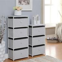 China Daily Necessities Bedroom Storage Units , CE Storage Shelving Units With Fabric Drawer wholesale