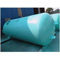 China Blue Vertical Air Receiver Tank Pressure Vessel , Low Pressure Air Compressor Holding Tank wholesale