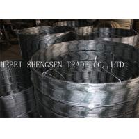 China Ss005 Galvanized Razor Barbed Wire , Concertina Razor Wire 0.5mm Thickness wholesale