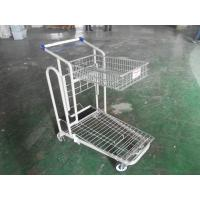 China Heavy Duty Warehouse cargo platform Trolley Cart For Carry Goods , PU wheels on sale