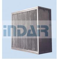 China High Mechanical Strength Clean Room HEPA Filters , SUS304 Frame H13 HEPA Filter on sale