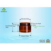 Buy cheap 40ml PET Cylinder Wide Mouth Jar With Aluminum Cap For Hand Cream product