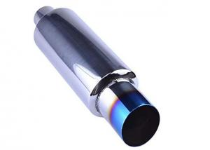 """China 3"""" Burnt Tip 2"""" Inlet 14.8"""" Length Tail Universal Exhaust Muffler wholesale"""