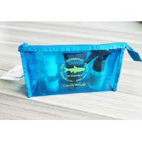 Buy cheap Bright Blue Waterproof Zipper PVC Cosmetic Bag , Transparent Vinyl Make Up Pouch from wholesalers