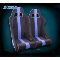 China Fabric Blue Stripe Sport Bucket Seats , Lightweight Racing Seats For Racing Accessories on sale
