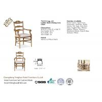 China Classcial Ladder Back Dining Chairs With Armrest , Dining Room Side Chairs wholesale