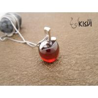 China 925 silver & crystal sterling silver gemstone pendant with red crystal W-VB979 wholesale