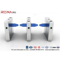 China Waterproof Drop Arm Access Control Turnstiles 304 Stainless Steel 2 RFID Readers wholesale