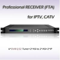 China IPTV System DVB-S2 Tuner input satellite Professional Receiver ASI&IPTV Streaming output  RFR1206 wholesale