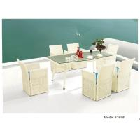 Buy cheap White Weeding dining chair with table -8165 from wholesalers