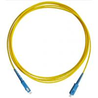 China Communication SC 9 / 125 Fiber Optic Patch Cord Single Mode Duplex Antirust wholesale