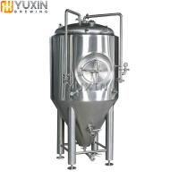 China 1000L Beer Fermenter Vessels with cooling jacket, conical bottom wholesale
