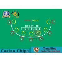 Buy cheap Anti - Fade Baccarat Table Layout For 10 Players In Casino Gambling Games from wholesalers