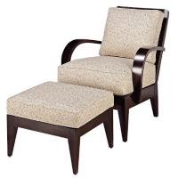 Buy cheap Classical Style Bedroom Hotel Lounge Leisure Chair Ottoman Customized from wholesalers
