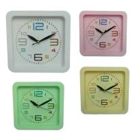 China square plastic alarm clock for home decoration wholesale