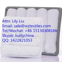 China 100% cotton white reusable Airline Towel hot towels wholesale