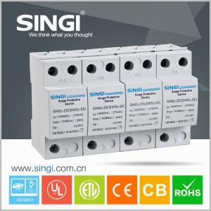 China 4 Pole white Power Surge protector 20kA - 40kA 220V low voltage wholesale