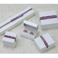 Buy cheap Fashion PU Paper Plastic Jewelry Gift Box With Bow Customized from wholesalers