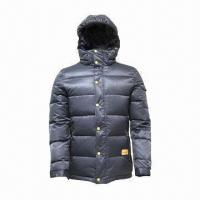 China Unisex Down Jacket with Flexible Cuffs, Makes Warm in Cold Weathers wholesale
