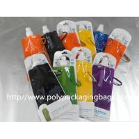China Colorful Printed Stand Up Pouch With Spout / Liquid Spout Bags on sale