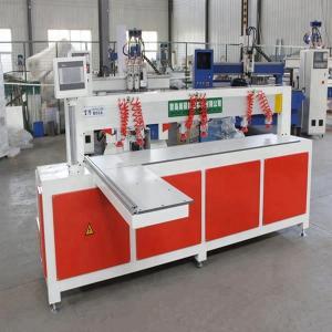 China Horizontal Wood Plate Cnc Hole Drilling Punching Machine Taiwan Servo Motor wholesale