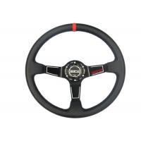 China Easy Control Red Race Car Steering Wheel Increase Driving Comfort And Grip wholesale