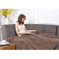 Quality 3D Embossed Fall Flannel Blanket Solid Color Soft Plush 100% Microfiber Polyester for sale