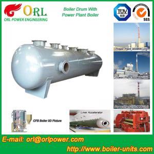 China Energy Saving Floor Standing Boiler Mud Drum , Grey High Pressure Drum wholesale