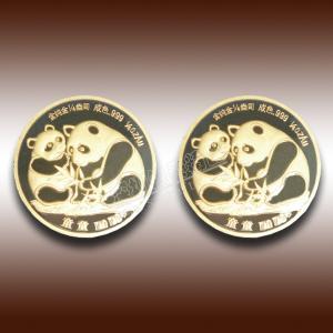 China pure 24k real gold of panda commemorative coin wholesale