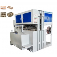 China Waste Paper Small Egg Tray Making Machine With Molds 700pcs/H for sale