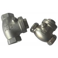 China Screwed SS316 and SS304 Check Valve , Cast Steel Swing Check Valve wholesale