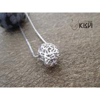 China Low MOQ and OEM 925 sterling silver round pendant with zircon W-VB1055 wholesale