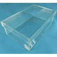 Quality Rectangular Clear Acrylic Shoe Display Box Transparent Eyes Catching for sale
