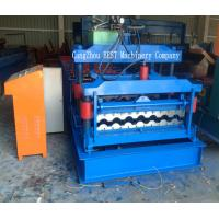 China Corrugated Roof Tile Roll Forming Machine PPGI/GI Material PLC Control wholesale